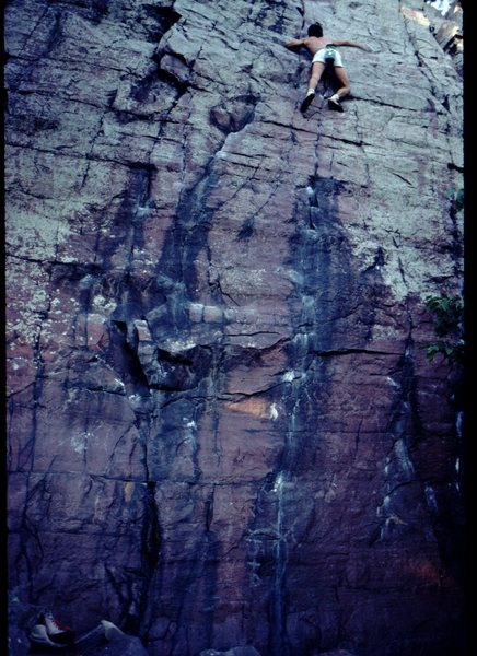 Rock Climbing Photo: Bob Horan on Watermarks Direct, circa 1975.