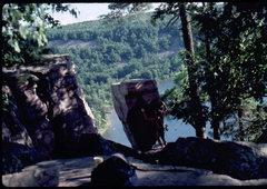 Rock Climbing Photo: The Balanced Rock. Photo: Bob Horan Collection.