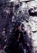 Rock Climbing Photo: Bob Horan, DL style on Flatus.