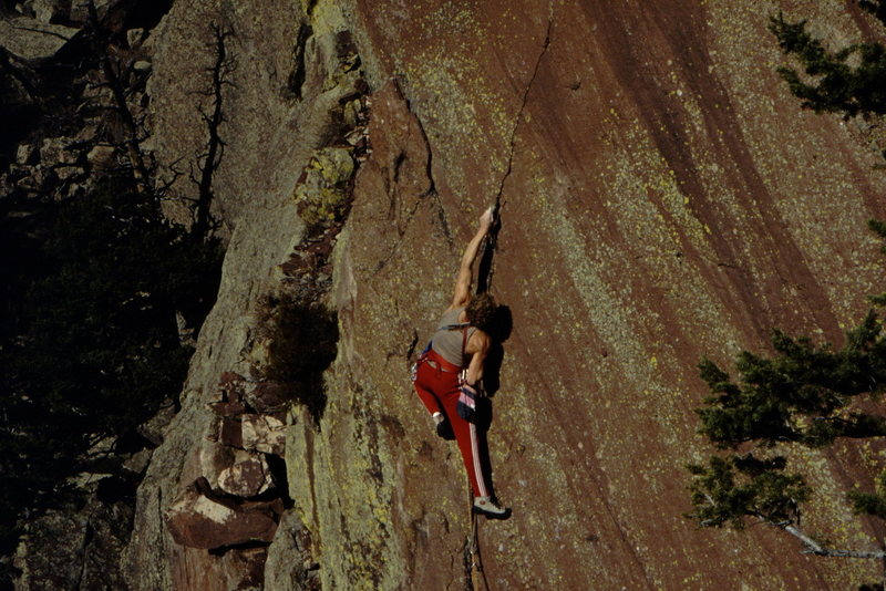 Rock Climbing Photo: Erik Goukas on Ruby Slipper: photot: Bob Horan Col...