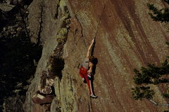 Rock Climbing Photo: Erik Goukas on Ruby Slipper: photot: Bob Horan Col...