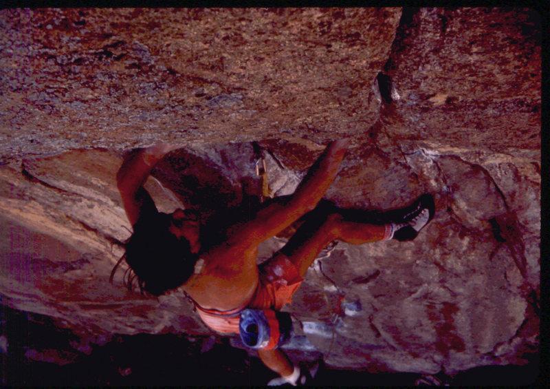 Rock Climbing Photo: Bob Horan leading Manic Depressive.