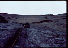 Rock Climbing Photo: A wet start on King of Swords. Photo: Bob Horan Co...