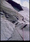 Rock Climbing Photo: Bob Horan approaching the Great Roof.