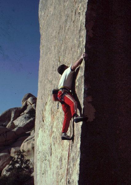 Rock Climbing Photo: Randy Leavitt on Ionic Strength.  Bob Horan Collec...