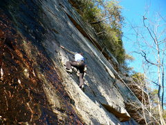 Rock Climbing Photo: Stacey on Winter's Respite, Jamestown, AL.