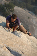 Rock Climbing Photo: Lance Lemke on Valley classic Sons of Yesterday.  ...