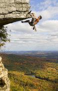 "Rock Climbing Photo: Bill Pierson styling the Gunks' ""The Dangler,..."