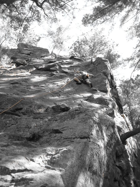 """End of the Innocence"" 5.7 sport at the Hollow."