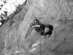 Rock Climbing Photo: A rest on Tangerine Dream