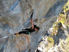 Rock Climbing Photo: The last moves of Tangerine Dream