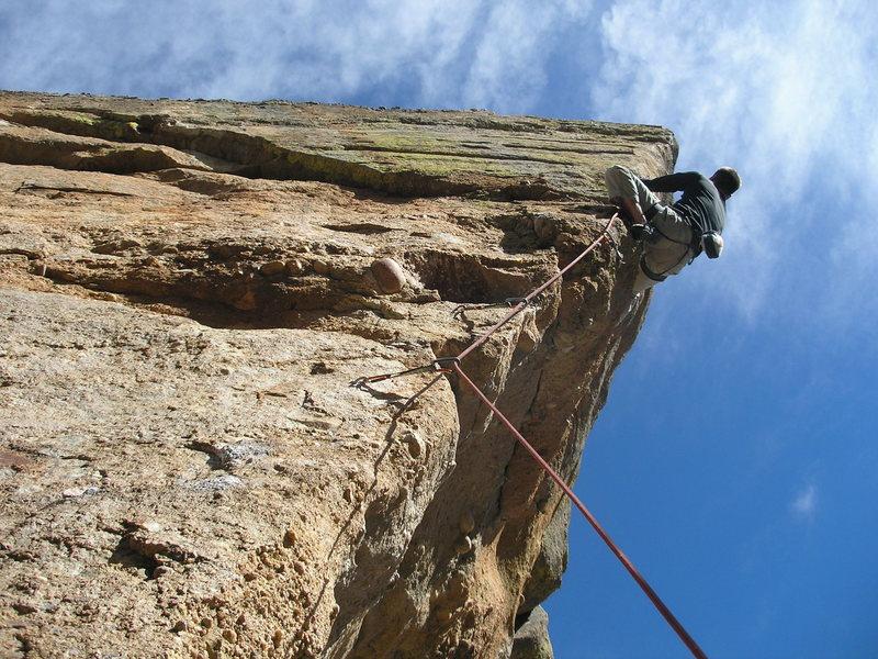 Rock Climbing Photo: Cabber crankin'.