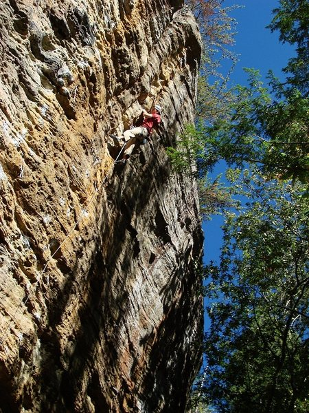 Rock Climbing Photo: Shot 3 of 4.  Ben (NorMN) on Steelworker, October ...