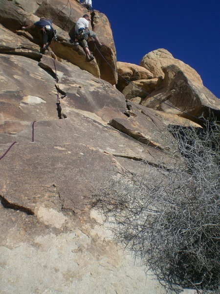 Rock Climbing Photo: taken from the base of the climb, Dave Cox (left) ...