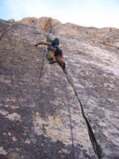 Rock Climbing Photo: Mossy Crack on Headwall