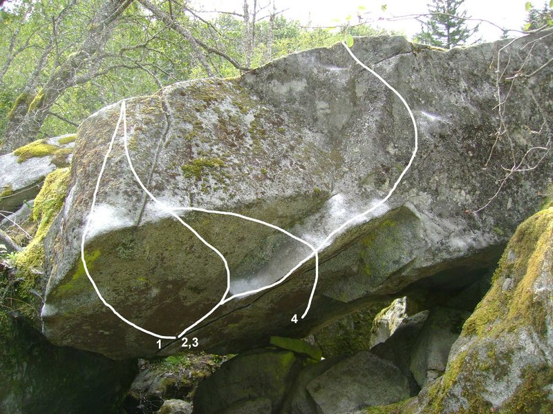 Rock Climbing Photo: 1. The Roof Problem Left V7