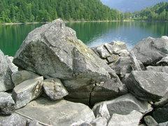 Rock Climbing Photo: Lakeview bouldering