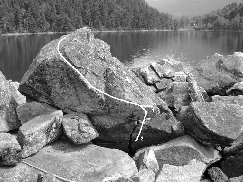 Rock Climbing Photo: 1. Unknown V0