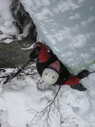 Rock Climbing Photo: Chopping on the crux...