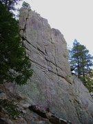 Rock Climbing Photo: Continuity, 5.10c ***, 7 bolts, fine rock.