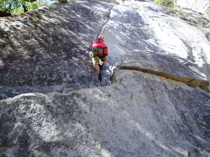 Rock Climbing Photo: More then one crack in pic Yosemite mt. school.