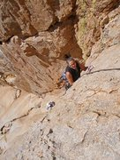 Rock Climbing Photo: Susan and Greg on the 1st pitch. (2nd pitch if you...