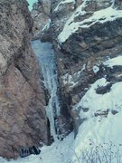 Rock Climbing Photo: Iron Oxide Falls in poor conditions. 1-3-09
