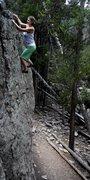 Rock Climbing Photo: Jaime loves the tall walls of Swan Mt. Summit coun...
