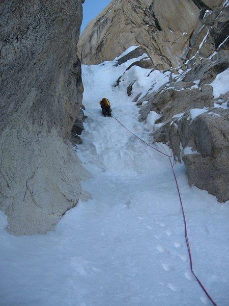 Rock Climbing Photo: Crux pitch.