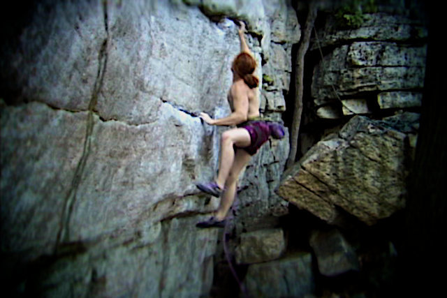"Luke on The Traps classic ""The Sting"".  The Gunks.  New Paltz, NY."