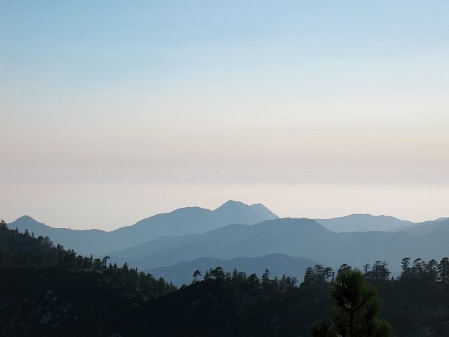 The view from Mount Pacifico, Angeles NF