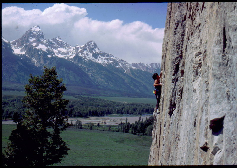Bob Horan climbing at Blacktail Butte.