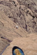 Rock Climbing Photo: John Baldwin seconding the upper pitches on levita...