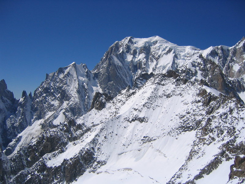 Rock Climbing Photo: The gnarly North side of Mont Blanc.