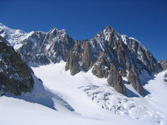 Rock Climbing Photo: North of Mont Blanc lie the awesome walls of Mont ...