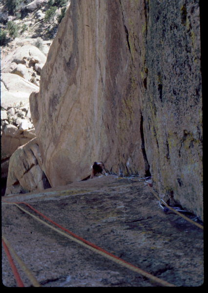 Rock Climbing Photo: Bob Horan on Wunsch's Dihedral.