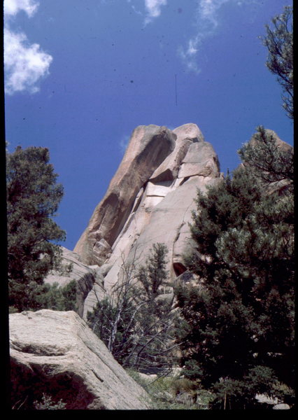 Rock Climbing Photo: Looking up at Wunsh's Dihedral. Photo: Bob Horan C...