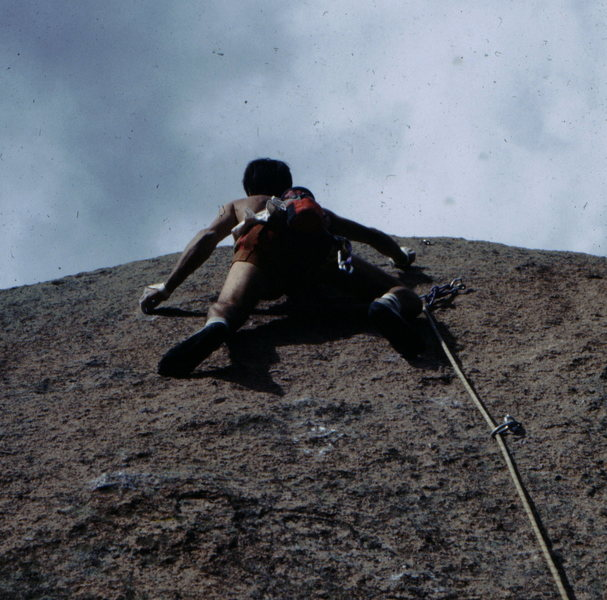 Rock Climbing Photo: Bob Horan sending the 5.12 finish to Wunsch's Dihe...