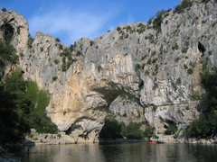 Rock Climbing Photo: Pont du Arc in the Ardeche Gorge.  Definitely some...