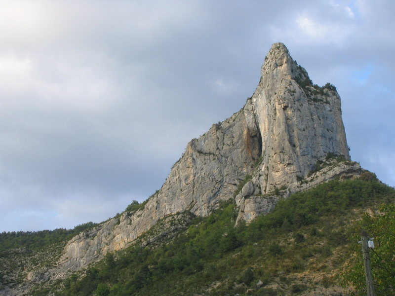 The cliffs above Orpierre offer an abundance of moderates, though the rock is not quite as good as at the more famous French crags.