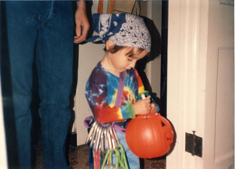 My son Dylan one Halloween long ago.