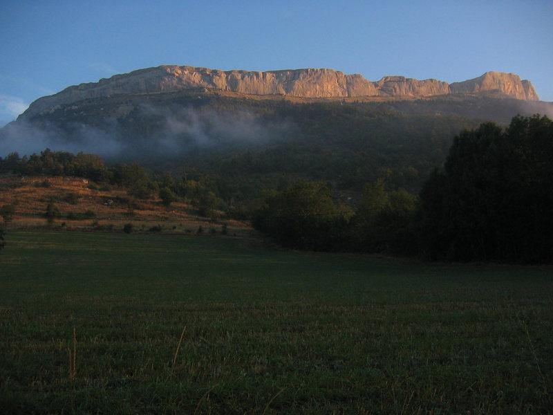 Rock Climbing Photo: Morning light on the Ceuse massif.