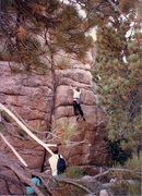 Rock Climbing Photo: Me on Joe's Problem.