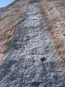 Rock Climbing Photo: Not topo needed...climb the blue streak.