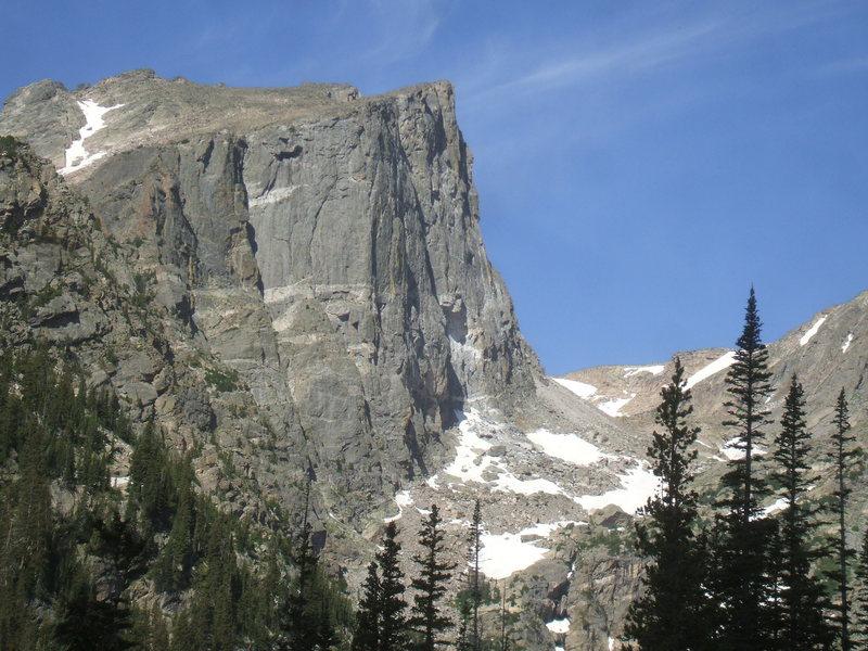 Rock Climbing Photo: Hallett Peak. Photo: Bob Horan.