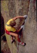 Rock Climbing Photo: Erik Goukas on the Bearshear's Finger Crack. Bob H...
