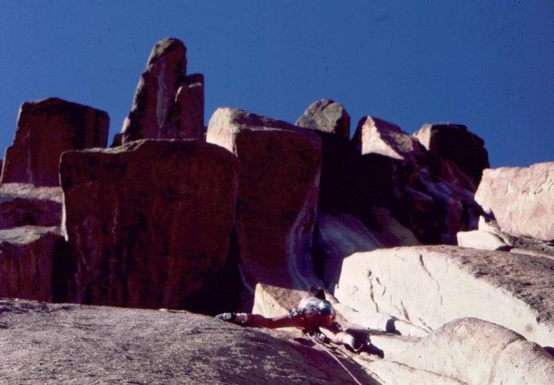 Rock Climbing Photo: Bob Horan on the Turkey Tail.