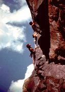 Rock Climbing Photo: Bob Horan and Arturo Perez on the Naked Edge.