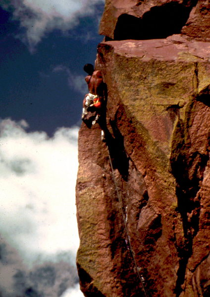 Bob Horan finishing up the Naked Edge.