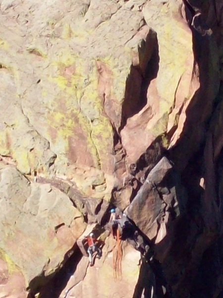 Rock Climbing Photo: On the fourth pitch of the Edge. Photo: Bob Horan ...